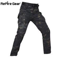 Refire gear IX9 стильные тактические камуфляжные штаны из мягкой оболочки, мужские Водонепроницаемые Военные флисовые брюки-карго, зимние теплые армейские брюки