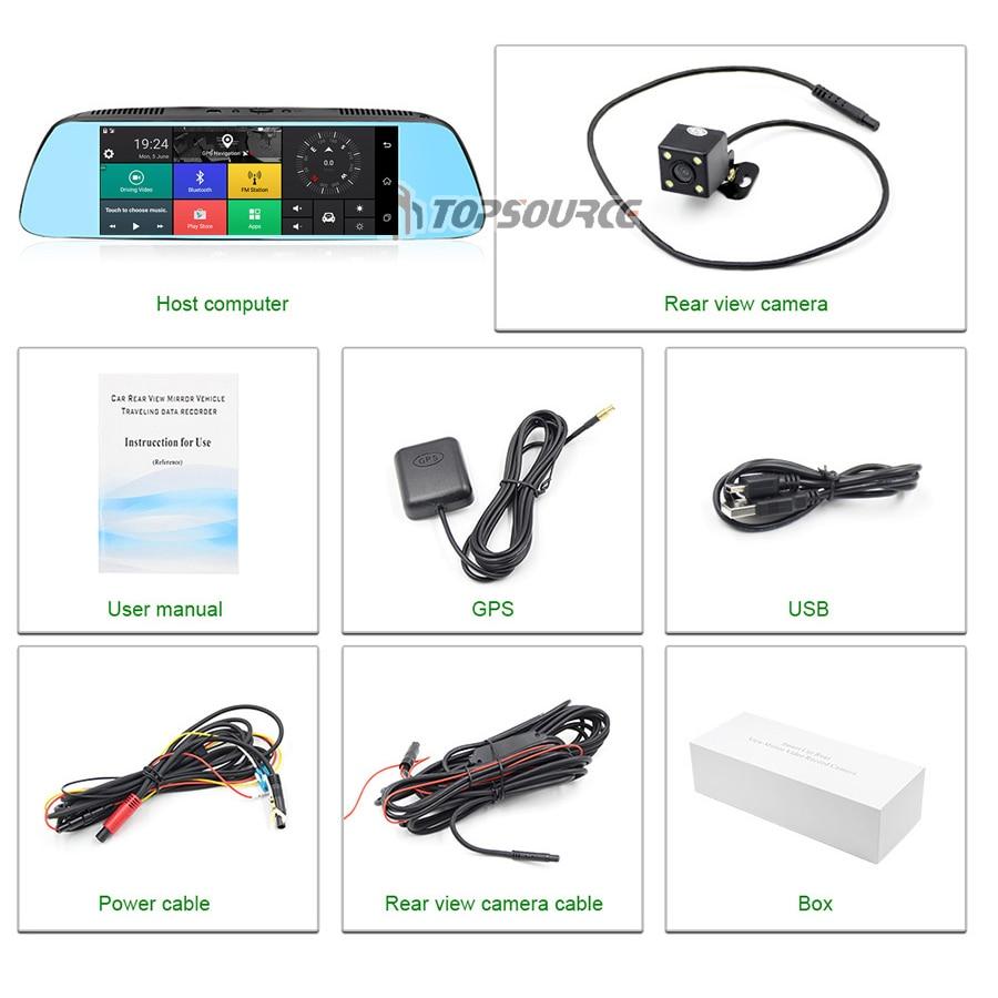 TOPSOURCE 7 '' Special Car DVR Camera Mirror Android 5.0 Nawigacja - Elektronika Samochodowa - Zdjęcie 6