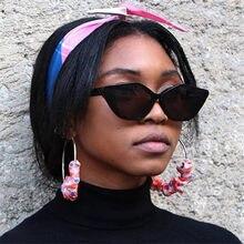 1678d855d الستار أنيق القط العين جولة النظارات الشمسية النساء مثير سيدة مصمم ريترو  uv400 نظارات شمسية الإناث ظلال نظارة دي سولي فام