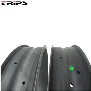 Image 3 - T700 מלא פחמן שומן אופני שפת 100mm רוחב 25mm עומק 26er גלגל שכבה כפולה שלג אופני שומן שפה א. ד. מט 32H חול חוף אופני חישוקים