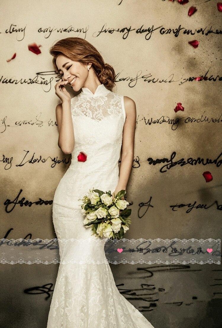 wedding dresses c 1 wedding dresses online cheap A Line Halter and V Neck Neckline Sleeveless Chapel Train White Wedding Dress with Ribbon