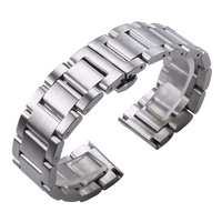 Solid 316L Stainless Steel Watchbands Silver 18 20 21 22 23 24mm Metal Watch Band Strap