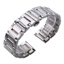 Solid 316L Stainless Steel Watchbands Silver 18mm 20mm 21mm 22mm 23mm 24mm Metal Watch Band Strap Wrist Watches Bracelet