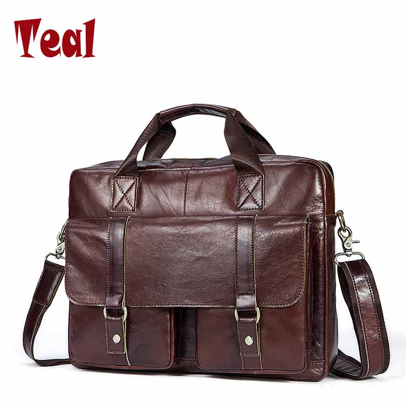 Men Briefcase Genuine Leather Bags Cow leather business Office Bags for Male Bag high quality Men Laptop Bag Briefcases new p kuone famous brands briefcases men luxury genuine cow leather 13 inch laptop bag high quality handbags business travel bag