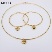 MGUB 10mm-70mm earrings collar set 3 style selection Imitation pearls Smooth and beautiful beads 2mm collar(China)