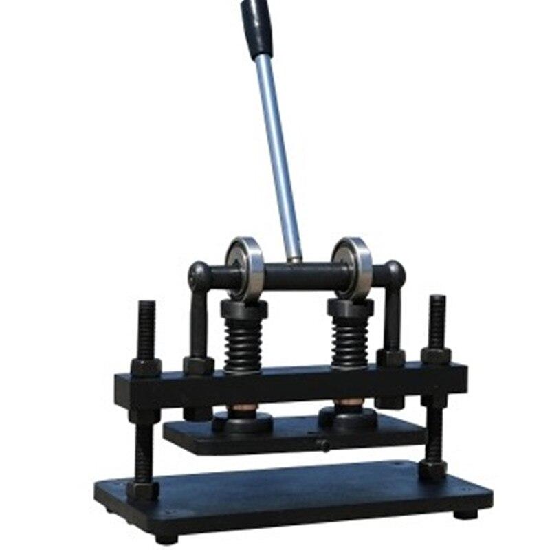 26x12 cm Double Roue Main machine de découpe du cuir PVC/EVA feuille moule coupeur cuir BateRady photo papier machine de découpe