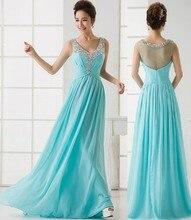 Kundenspezifische farbe & größe! elegante Pailletten Kristall lange abendkleid Chiffon spitze brautkleider paryt kleid