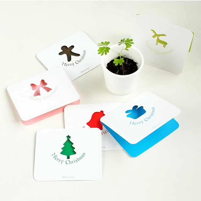 10pcsbag fold cards handmade blessing cards christmas gifts cards kids birthday new year festival