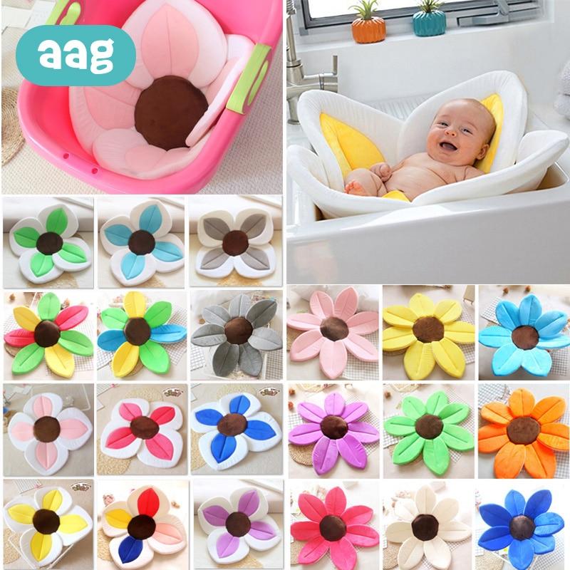 AAG wanna dla dzieci noworodka składane kwiat kwitnący do kąpieli podkładka do wanny poduszka dla niemowląt Anti-slip zlew dla niemowląt siedzenie do prysznica akcesoria 40