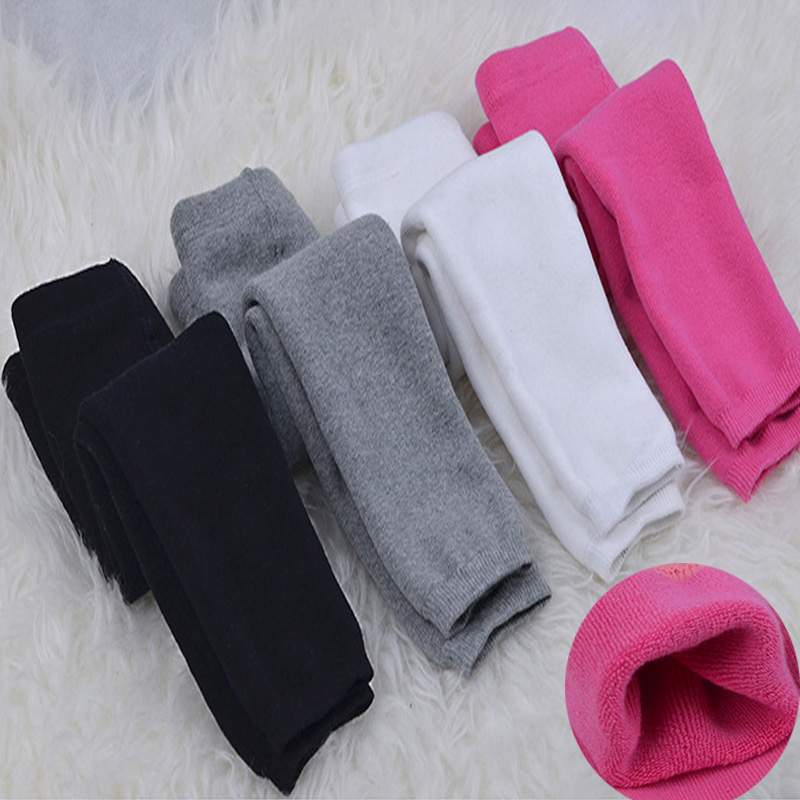 2018 Winter New Baby Pants Cotton Thicken Velvet To Keep Warm Girls Leggings Korean Style 0-2 Year Girls Pants