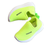 2018 spring and summer children's casual shoes, boys, new girls, soft soles, single shoes, baby breathing net shoes.