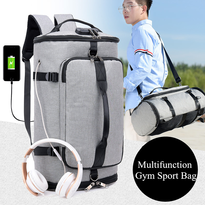 Fitness Training Bag Nylon Gym Bag Men Shoes Travel Backpack Sport Bag Backpack Multifunction Tote Gym Bags For Shoes Storage canvas sport bag training gym bag men woman fitness bags durable multifunction handbag outdoor sporting tote for male