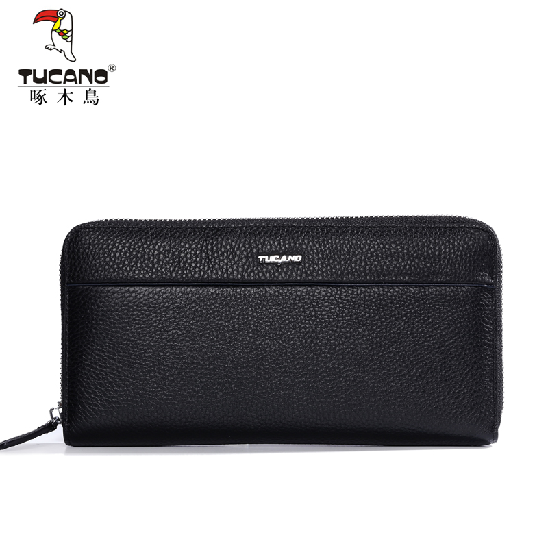 TUCANO luxury famous brand men wallets genuine leather long business large capacity male clutch purse card holder leinasen brand long wallets oxford men clutch bag with strap handy zipper purse man card holder phone pocket large capacity 2017