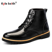 Kyle Keith 2018 Dr Martin Men Boot Shoes Patent Leather Men Middle Cut Boots Designed Man Winter Snow Ankle Boot Brown Black