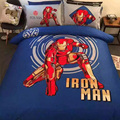 4 pieces film iron man kids boys bedding set 3d Robot Hero bed linen with duvet cover/bed sheet/pillowcases king/queen size