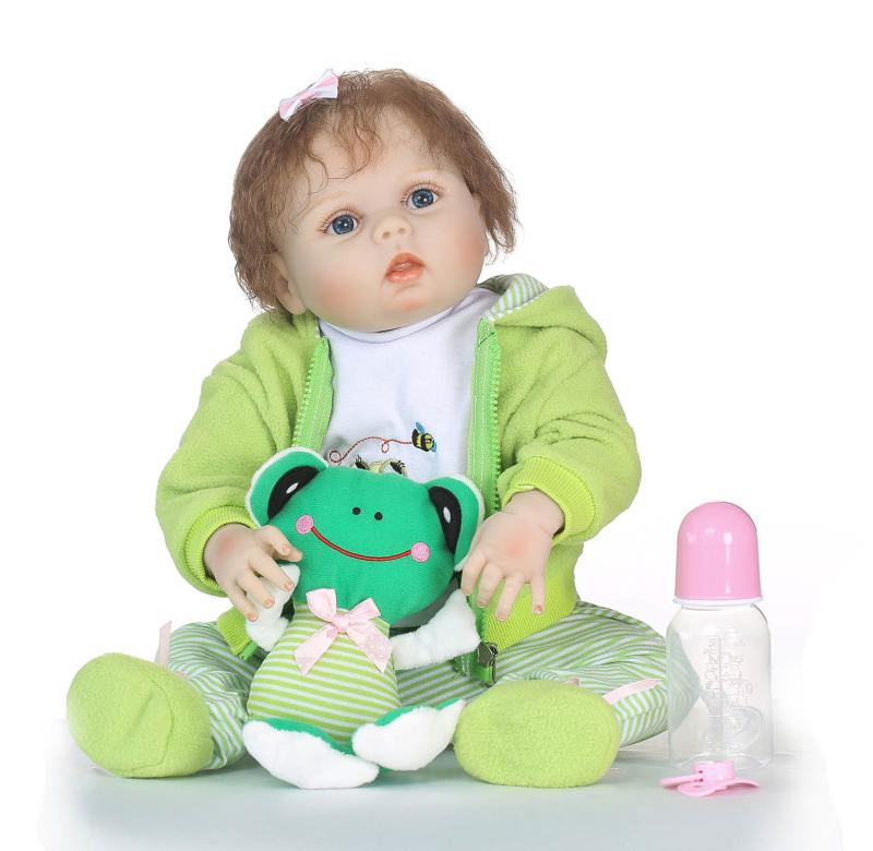 NPK 57cm Lifelike Soft body Newborn babies Silicone Reborn Baby Doll Toys bebes Reborn doll Birthday Gift Girls Brinquedos цены онлайн
