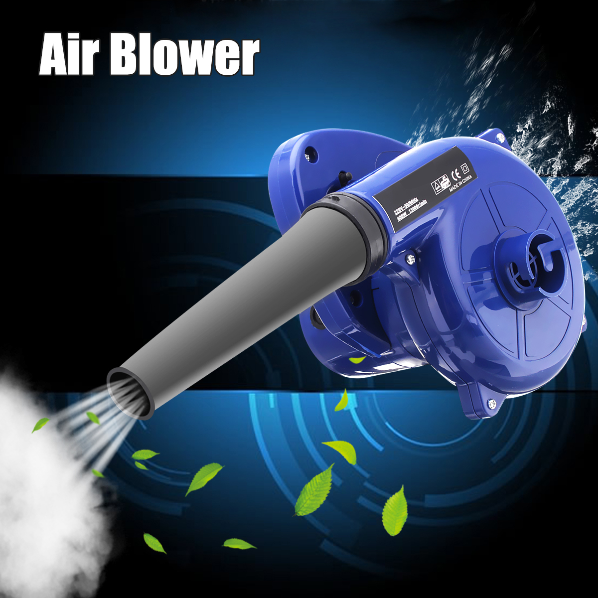 600W 220V Electric Handheld Air Blower Computer Dust Collector Fan Vacuum Cleaner Dust Collecting Leaf Car Dust Blowing Remover