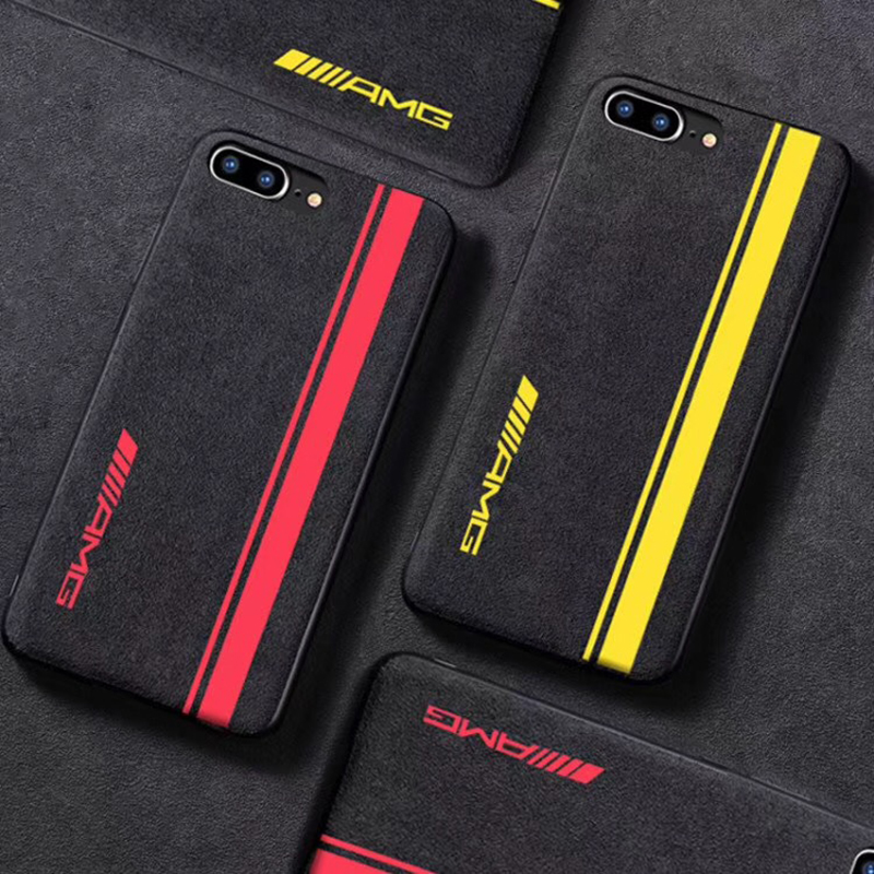 hot sale online 485b0 2d19a US $2.07 23% OFF|Hot AMG Yellow track Limited Motorsport cover case for  iphone 6 plus 7 7plus 8 8plus X XR XS Max Luxury car leather phone coque-in  ...