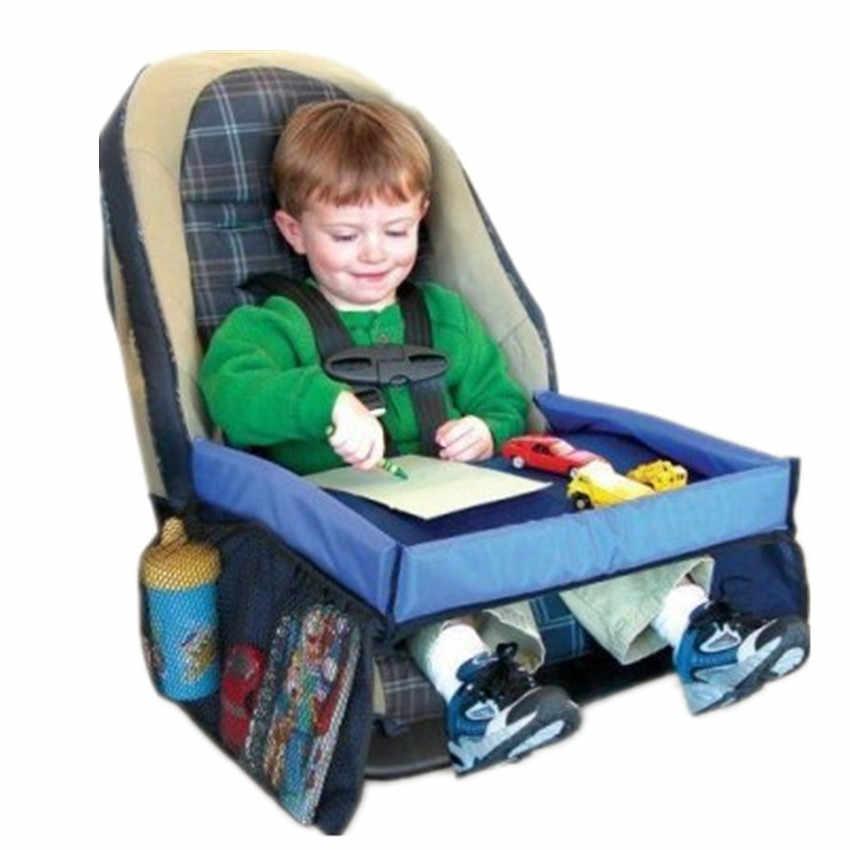 Дорожный поднос для ребенка, портативный стол для автомобиля, детский держатель для коляски, стол для еды, водонепроницаемый, новый детский поднос для автокресла, детская игрушка для хранения