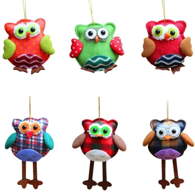 1pc christmas decorations owl christmas ornaments christmas tree ornaments decoration kids gifts supplies new year decoration