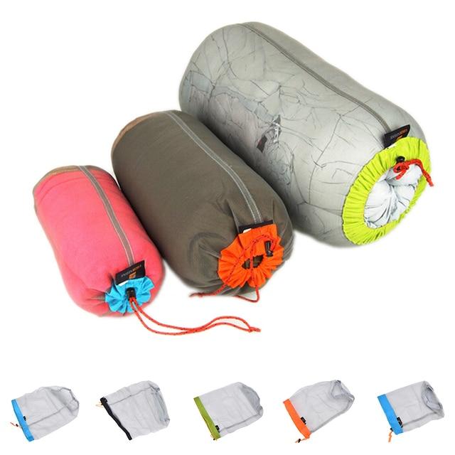 1Pc Portable Tavel Mesh Stuff Sack Drawstring Bag Travel Kit Accessories  5 Sizes 3