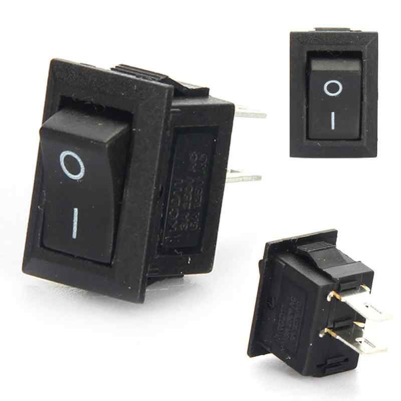 5pcs/10pcs Push Button Switch 10x15mm SPST 2Pin 3A 250V KCD11 Snap-in On/Off Boat Rocker Switch 10MM*15MM Black