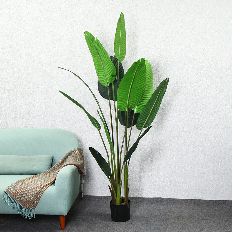US $135.0 |Nordic style artificial plant 1.2m 1.6m traveler banana turtle  harpsichord leaf indoor living room large greenery faux plants-in  Artificial ...