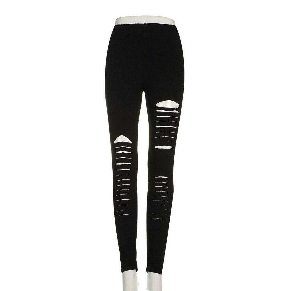 HTB16P0LXUrrK1RkSne1q6ArVVXaN Hirigin Summer Style Women Fashion Hole Leggings Ladies Bodycon Punk Holes Ripped Slit Split Leggings Boho Solid Slim Pants