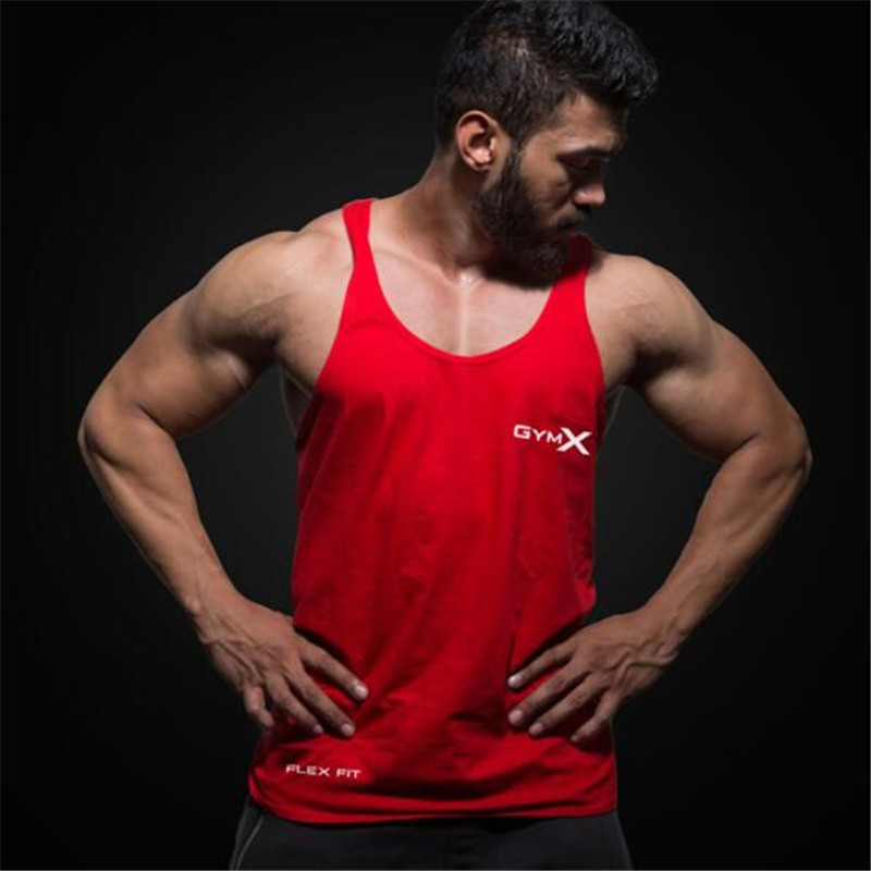 2019 New Fashion Brand Mens bodybuilding   Tank     Tops   Men Breathable Men's Cotton Fitness Gyms Suits Men Gyms Mens   Tank     Top