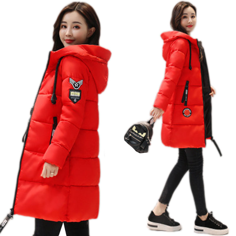 Winter Jacket Women Plus Size Vintage Jackets And Coats Female Cotton Padded Long   Parkas   Mujer 2018 Korean Hooded Coat NW491