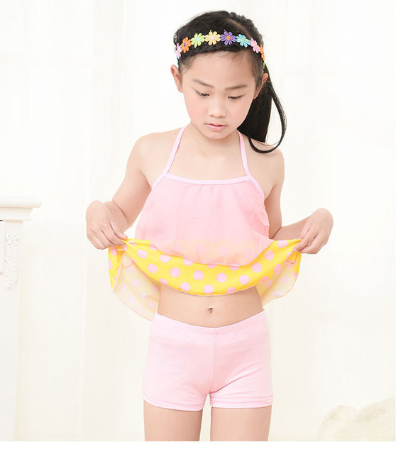 8026wholesale Retail Young Girl Swimwear Latest Design Hot Teen Latex Swimsuit Good Quality Design