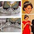 Top qualidade luxo clAssico noiva europeia Rhinestone cristal nupcial cabelo Crown Tiara acessorios vestido de noiva
