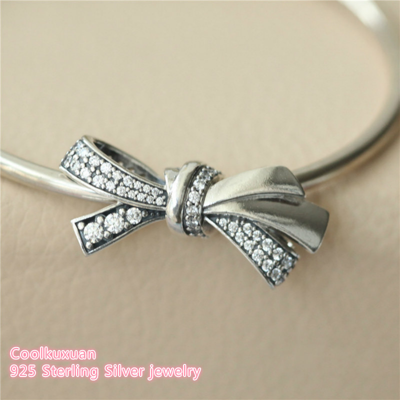 2019 Mother S Day 925 Sterling Silver Brilliant Bow Charm