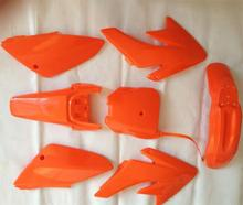 7pieces/1set new orange plastic kit for MOTORCYCLE honda dirt pit bike CRF70 CRF 70