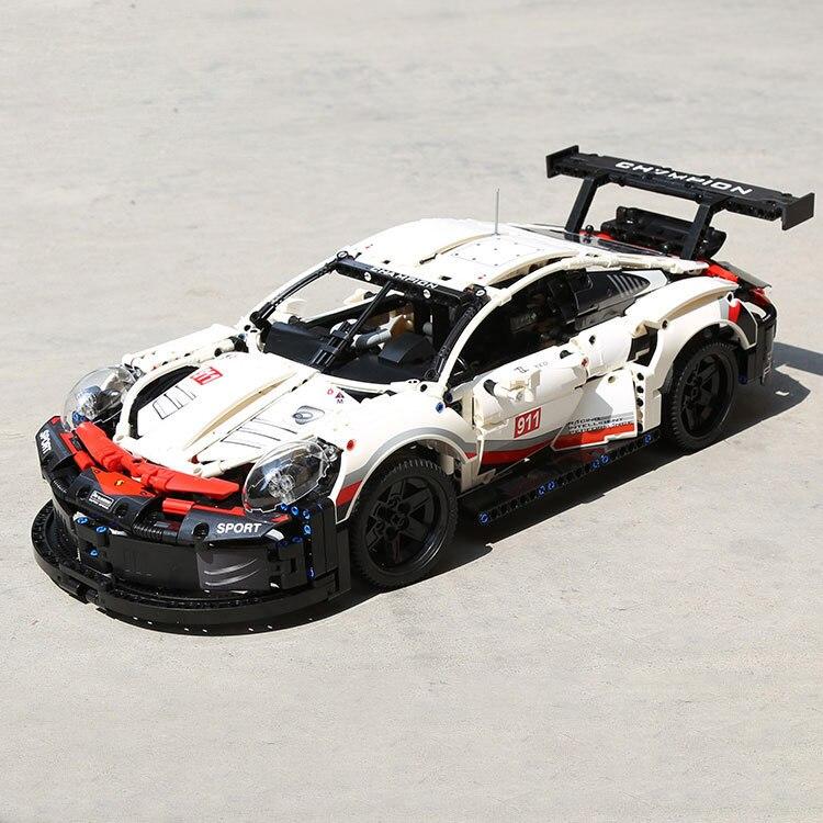 Porsche 911RSR blocs de construction compatibles Lg Technic 42096 et lepingde 20097 machines Technic course voiture jouets D25