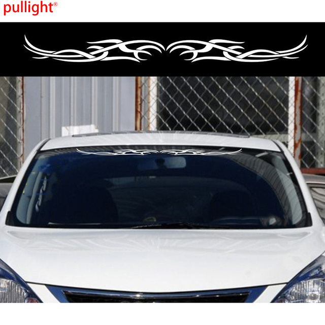 Car flames tribal windshield decal vinyl decor decor sticker