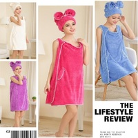 UBRUSH New dress style bath towel quickly dry cute polyester towel Women Can Use This As Dress For Girl Soft And Fit Skin