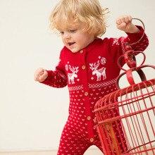 Младенческой ползунки Детский спортивный костюм новорожденных для маленьких мальчиков Обувь для девочек теплый комбинезон вязаный свитер Детская clothse верхняя одежда