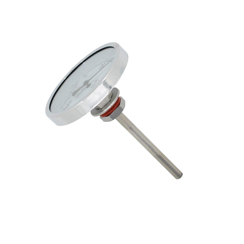Sans soudure Bi-métal Thermomètre Kit 1/2 BSP 0 ~ 500 degrés Thermomètre de Brassage de Bière Homebrew Bouilloire L50-300mm