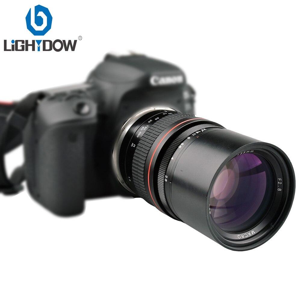 Lighdow 135mm F2.8 Téléobjectif Prime pour Canon 6D 6DII 7DII 77D 760D 800D 70D 80D 5DIV 5DIII Nikon D3400 D5300 D760D Caméras