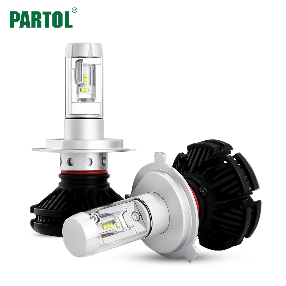 X3 Partol H4 H7 H11 9005 9006 H13 Car LED Headlights Bulbs 50W 6000LM All in one CSP LED Headlamp 3000K 6500K 8000K