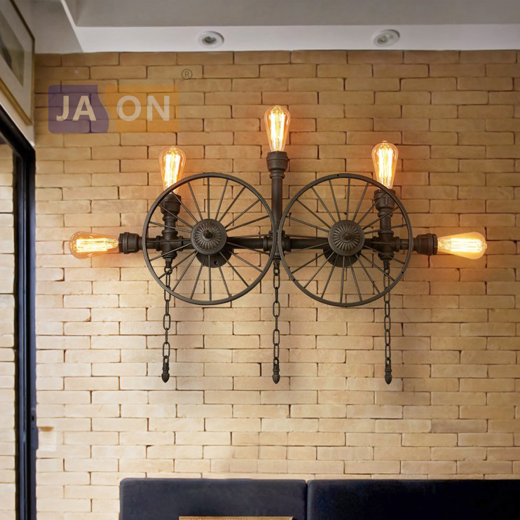 e27 Edison Loft Industrial Wrought Iron Wheel Pipe LED Lamp LED Light Wall lamp Wall Light Wall Sconce For Bar Foyer Bedroom william lederer a the completelandlord com ultimate real estate investing handbook