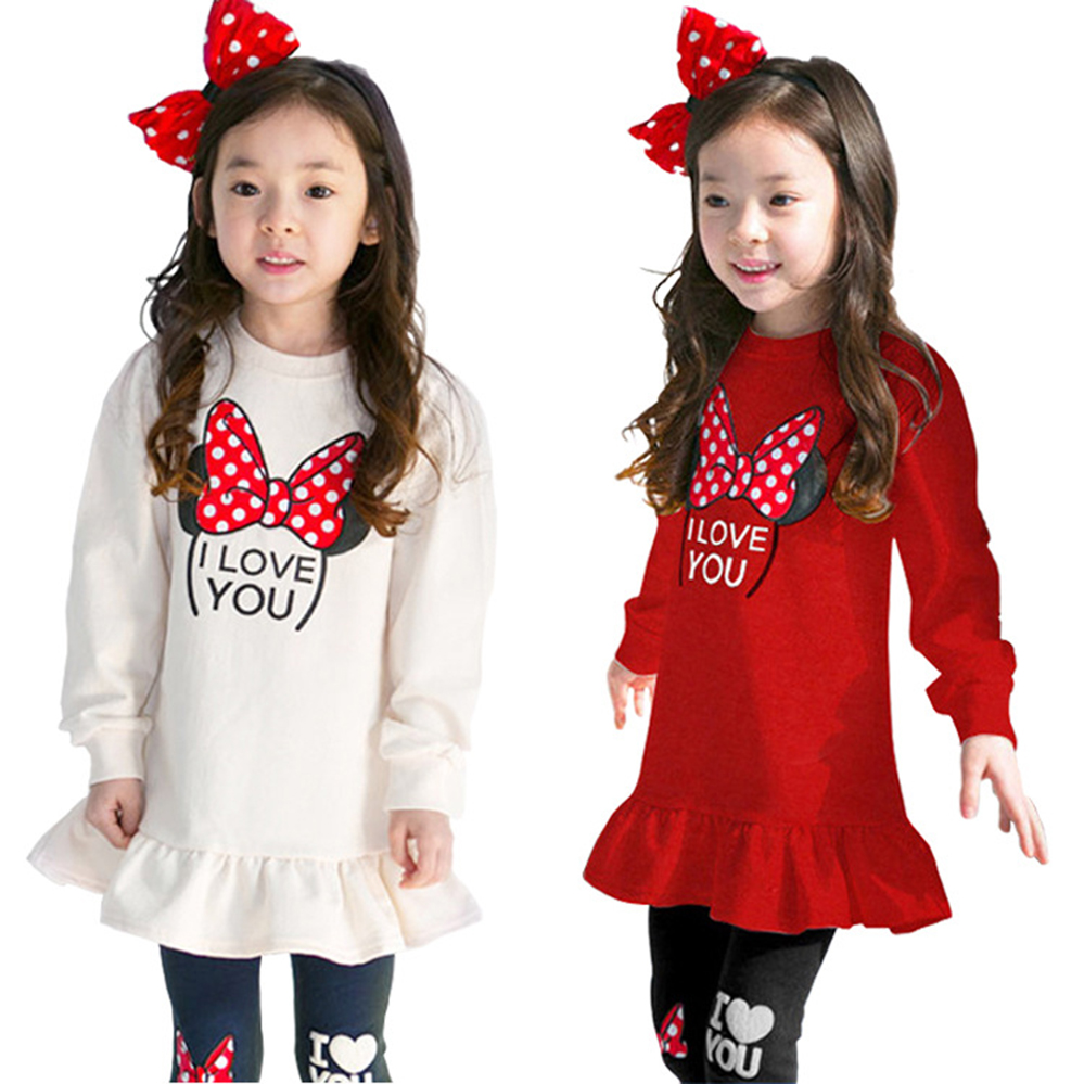 Fashion Spring Kids Clothing Set Stretch Tops + Pants 2pcs Cotton Casual Cartoon Long Sleeve Girls Clothes Suit 3 5 7 8 Years lovely spring pure cotton thomas and friends children clothing long sleeve tops pants for 2 7 years boy kids pajamas sleepwear