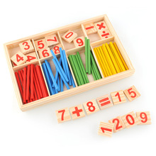 Montessori Materials Mathematics Math Counting Toy Preschool Spindles Wooden Math Game Toys For Kids Children Gift