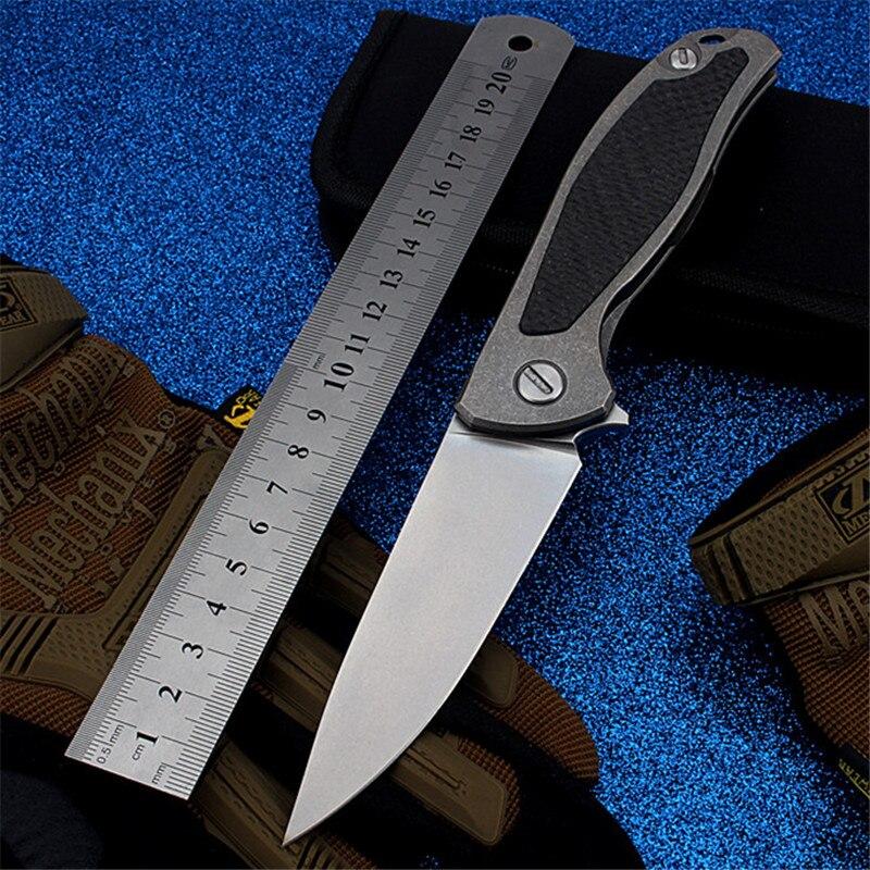 2018 nouvelle offre spéciale D2 acier extérieur tactique couteau pliant haute dureté auto-défense survie Camping petits couteaux de chasse outils