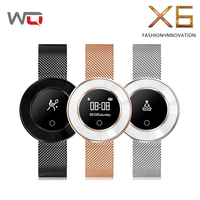 WQ X6 Lady Smart Band Yoga Watch Blood Pressure Smart Bracelet Fitness Tracker For Girlfriend Wife IP68 Waterproof Women Band