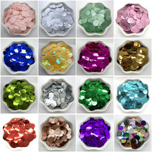 400pcs 10mm PVC Flat Round loose Sequins with 1 side hole Paillettes sewing Wedding Craft Accessories DIY Pendant SequinTrim