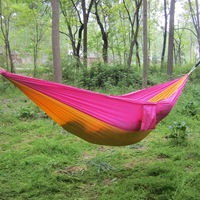 50pcs Lot Comfortable Survival Parachute Hamak Camping Outdoor Double Person Hanging Bed HAMMOCK 260 140CM Max