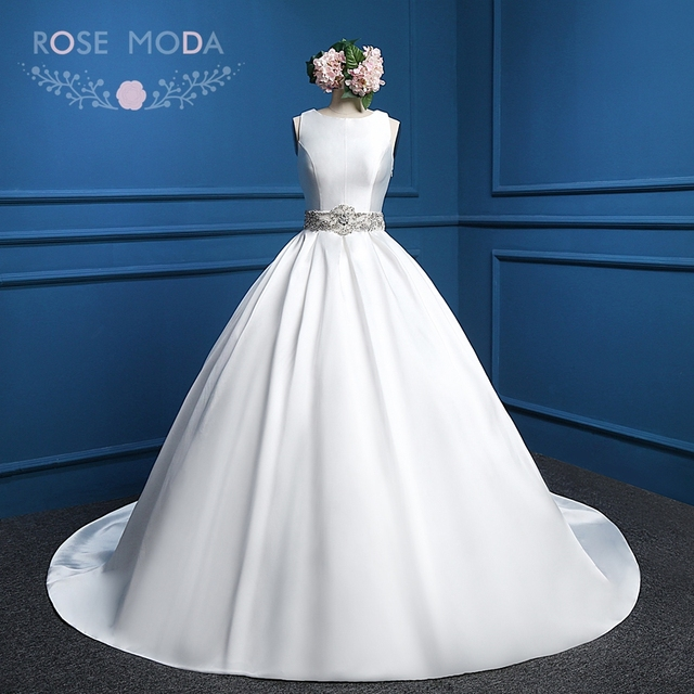 Rose Moda Vintage Ball Gown with Crystal Back Sleeveless Crystal ...