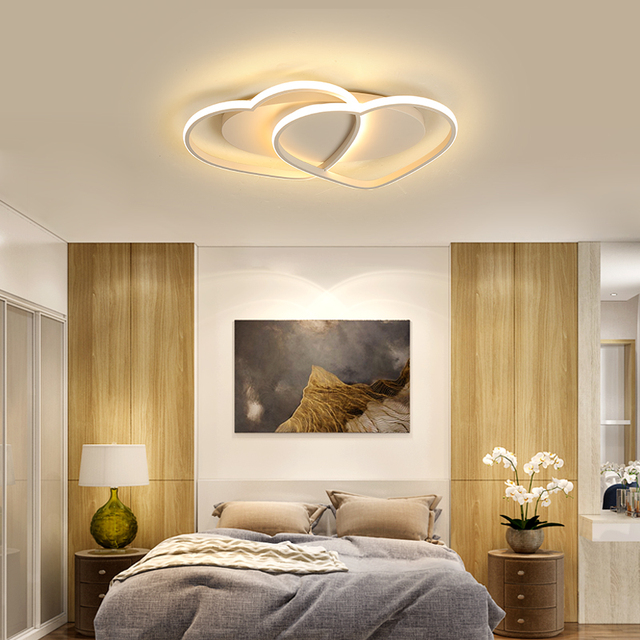 NEW aluminum Modern LED ceiling lights lampada led For Bedroom Childrens room Home lamparas de techo ceiling lamp AC110V 220V